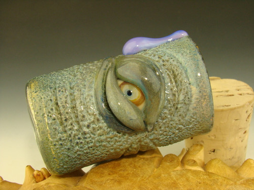 Hand blown Glass Eye of the Elephant Jar or Shot Glass Flameworked Art by Eli Mazet (ready to ship)