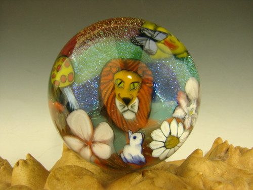 Glass Marble  millefiorie by Betty Wolfe