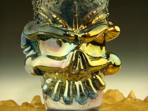 Hand blown Horny Skull Shot Glass by Mazet