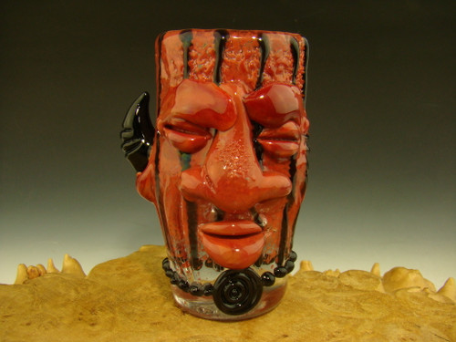 tribal face shot glass by mazet