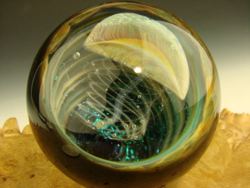 Large Glass Jellyfish Marble By Chris Upp