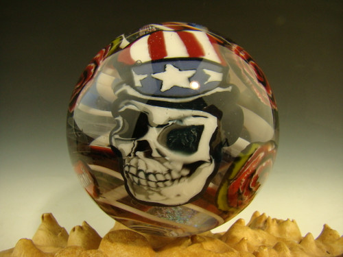 Huge Grateful Dead Glass marble by Boehme