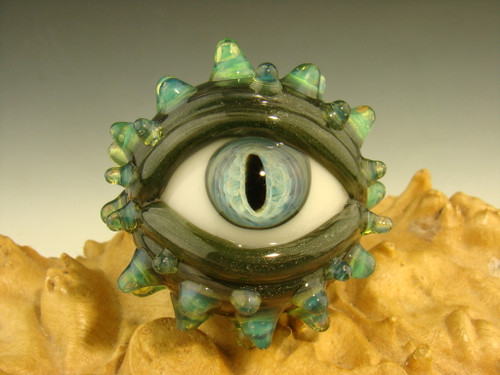 Glass Horny Eye Marble Dragon Eyeball by Kenny Talamas