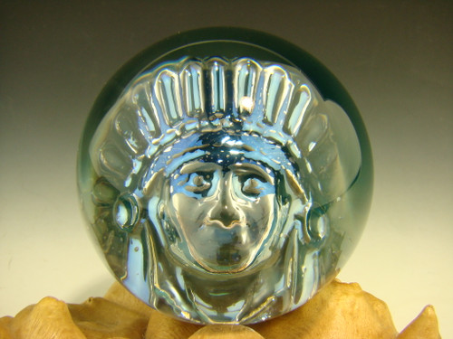 Phantom Chief Glass Art Marble by Elly