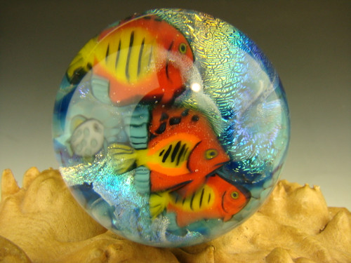 Glass Marble Murrini Tropical Fish Aquarium orb by Betty Wolfe