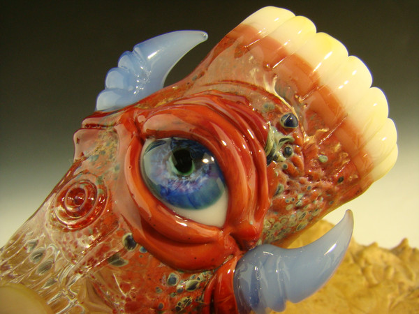 Horn Eye shot glass with Teeth by mazet