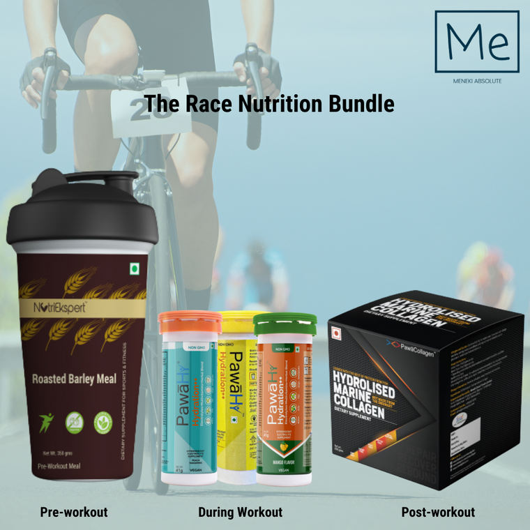 The Race Nutrition Bundle- Preworkout, During & Post-workout combo Pack