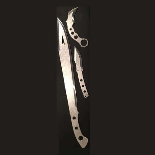 Espada Y Daga Combo Aluminum Traininers (Sword, Knife & Curved Blade)