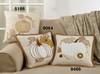 Appliqué Knit Pumpkin Pillow