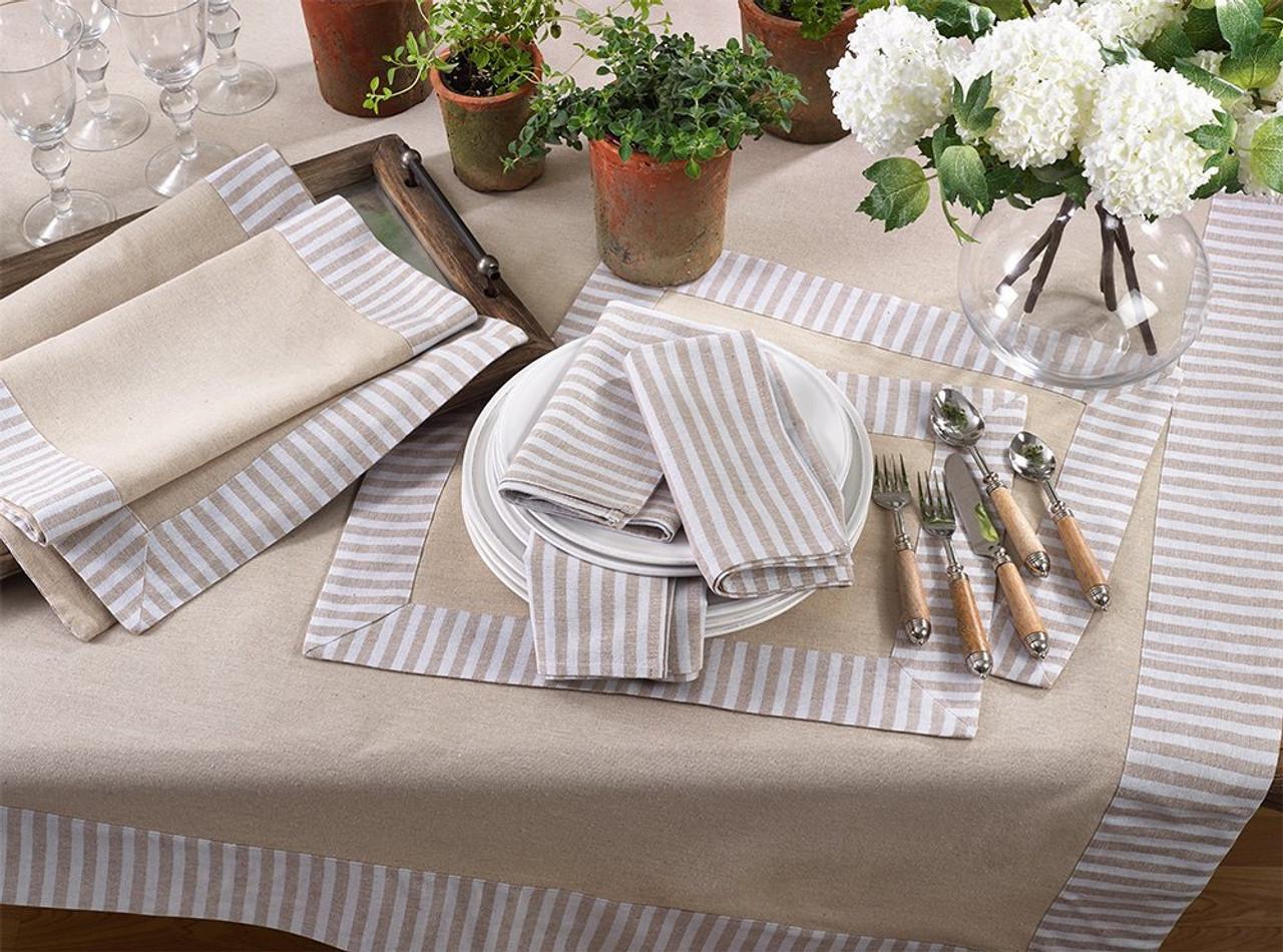 485bb3a89d8 Striped Border Printed Design Cotton Linen Series - www.fenncostyles.com