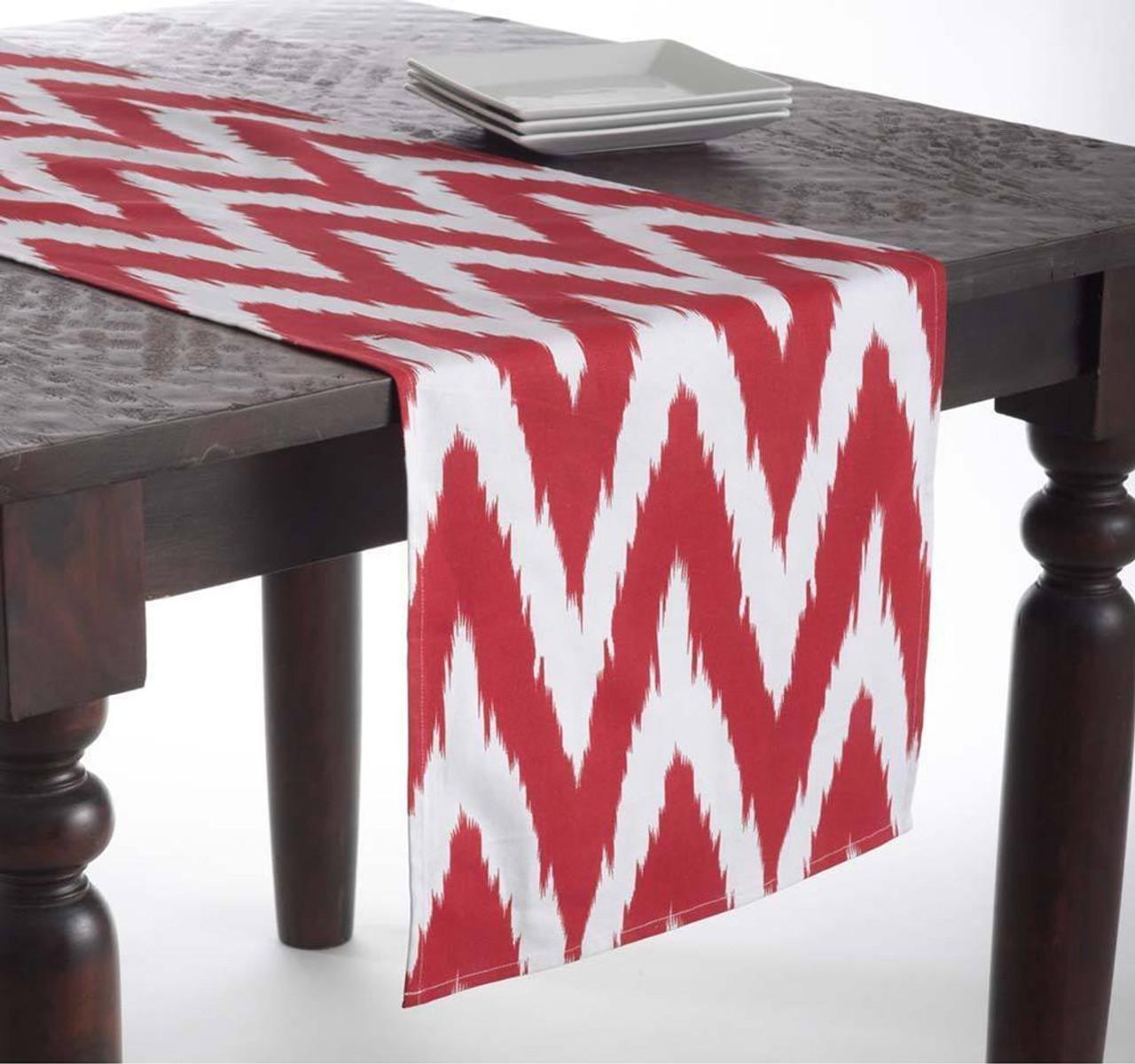 Fennco Styles Bail Chevron Decorative Table Runner