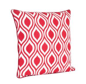 Fennco Styles Printed Teardrop Design Linen Blend Table Runner & Pillow
