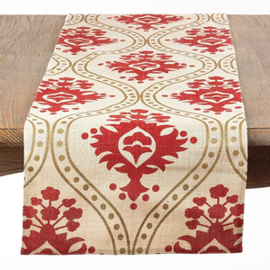 "Fennco Styles Anahi Printed Jute Table Runner, 16""x72"""