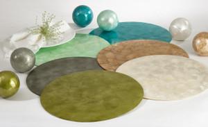 Fennco Styles Capiz Design 15-inch Round Placemat - 1-Piece
