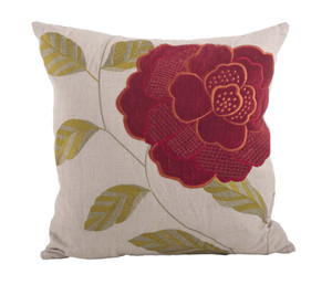 Imani Embroidered Down Filled Throw Pillow, 18-inch Square