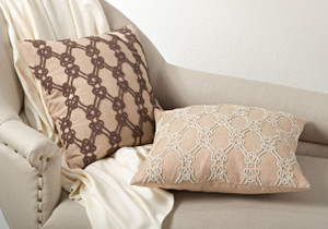 Ganda Beaded Knotted Down Filled Throw Pillow