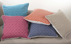 Printed Ikat Design Down Filled Decorative Throw Pillow