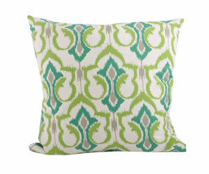 Unique Ikat Design Down Filled Decorative Throw Pillow