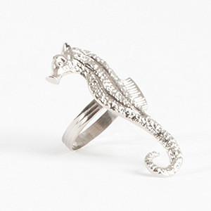 Elegant Seahorse Napkin Rings, Set of 4