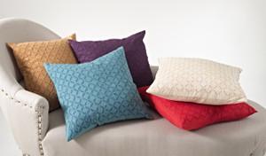 Appliqué Sheeting Nirali Down Filled Throw Pillow