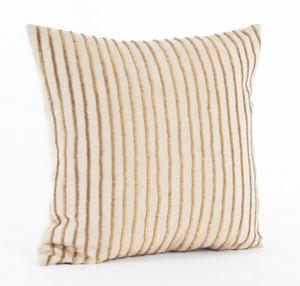 Isadora Gold Beaded Design Decorative Throw Pillow