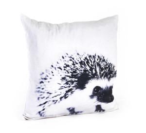 "20"" Artsy Black & White Animal Feather Filled Cotton Decorative Throw Pillow"