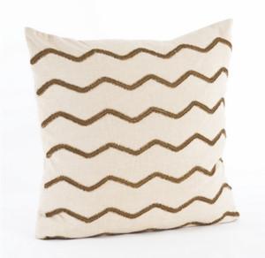 Beaded Zigzag Design Beaded Throw Pillow