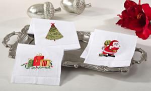 Adorable Holiday Christmas Napkin, Set of 4