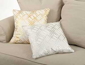 Lustrous Metallic Foil Decorative Throw Pillow