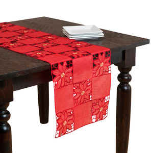 Bellingham Embroidered and Cutwork Table Runner