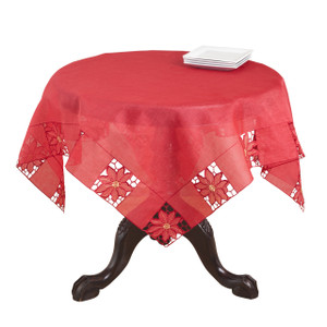 Bellingham Embroidered and Cutwork Tablecloth