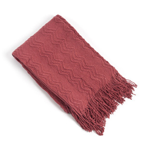 Zigzag Chervon Knitted Throw Blanket