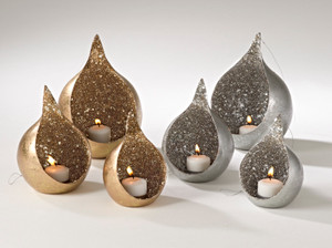 Fennco Styles Home Décor Seed Bead Design Votive Holders