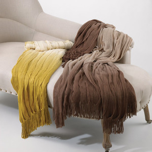 Ombré Design Ruffled Throw Blanket