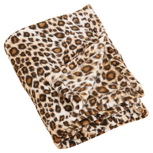 Cheetah Print Plush Throw Blanket