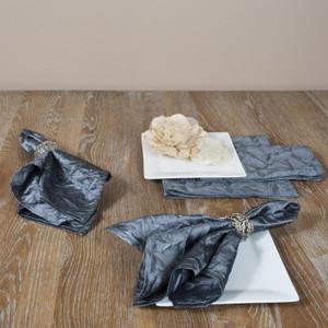 Crushed Design Elegant Napkins, Set of 4