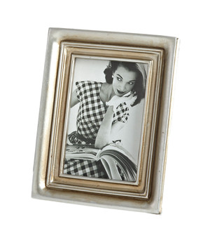 Classic Two Tone Decorative Photo Frame, 2 Photo Sizes