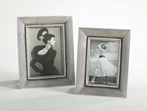Fennco Styles Striped Design Decorative Photo Frame, 2 Photo Sizes