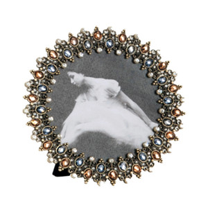Antique Design Bejeweled Photo Frame