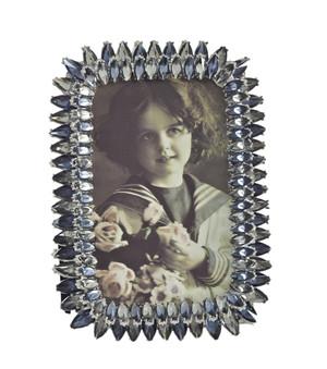 Sapphire Jeweled Photo Frame