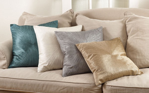 Fennco Styles 20-inch Shimmering Starburst Down Filled Throw Pillow, 4 Colors