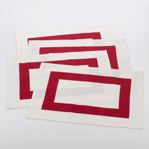 Fennco Styles Bisciola Collection Banded Design Placemat - Set of 4