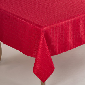 Gloria Collection Stitched Design Tablecloth - 5 Sizes - 2 Colors