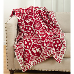 Fennco Styles Sevan Collection Christmas Design Knitted Throw Blanket