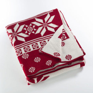 Fennco Styles Sevan Collection Knitted Christmas Design Throw Blanket