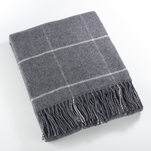 Fennco Styles Sevan Collection Geometric Design Wool Blend Throw Blanket