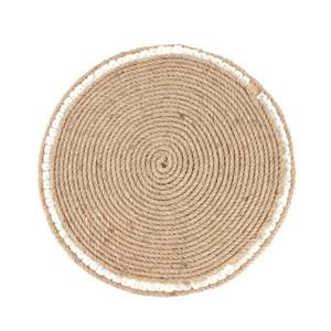 Fennco Styles Cebu Jute Design Placemat 15-inch Round Elegant Placemat - 1-Piece