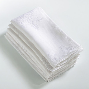 Fennco Styles Burnout Snowflake Design Napkin - Set of 4
