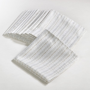 Fennco Styles Gloria Collection Stitched Design Dinner Napkin