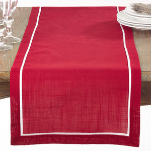 "Chancy Classic Pleated Table Runner, 16""x70"" Rectangular"